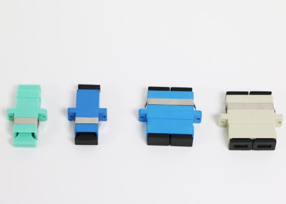 ROHS şikayet Yüksek Geri Dönüş Kaybı ile Zrconia Kol Fiber Optik Adaptör