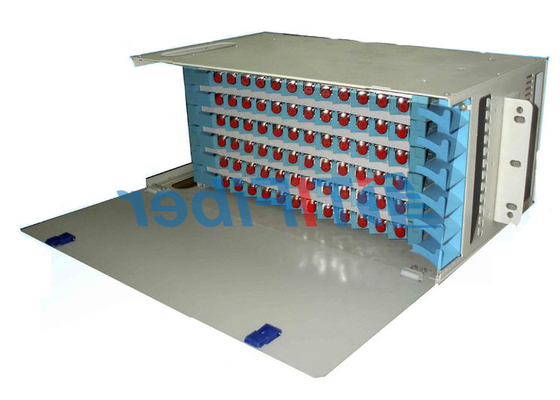 96 Port Patch Panel SC UPC Simplex Portu, Sabit Tip ODF Duvara Monte Fiber Patch Panel