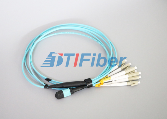 High Stability OM4 MTP Fiber Optical Patch Cord  For 40G Networks